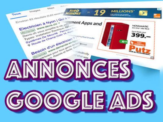 Annonces Google Ads réalisées par bienvu